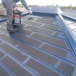 屋根塗装・上塗り